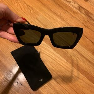 5b8104be31c5 Celine Accessories - Celine Eva modified cat eye sunglasses (black)